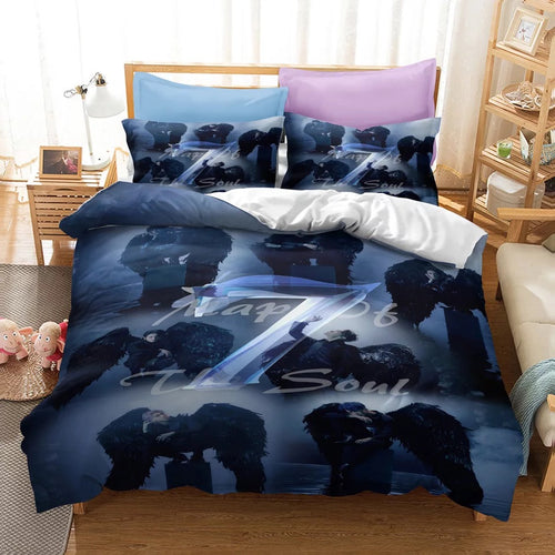 BTS MAP OF THE SOUL 7 #16 Duvet Cover Quilt Cover Pillowcase Bedding Set Bed Linen Home Bedroom Decor