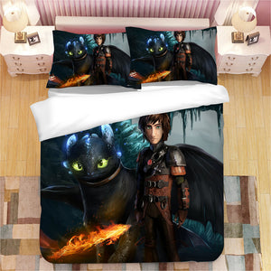 How to Train Your Dragon Hiccup #8 Duvet Cover Quilt Cover Pillowcase Bedding Set Bed Linen