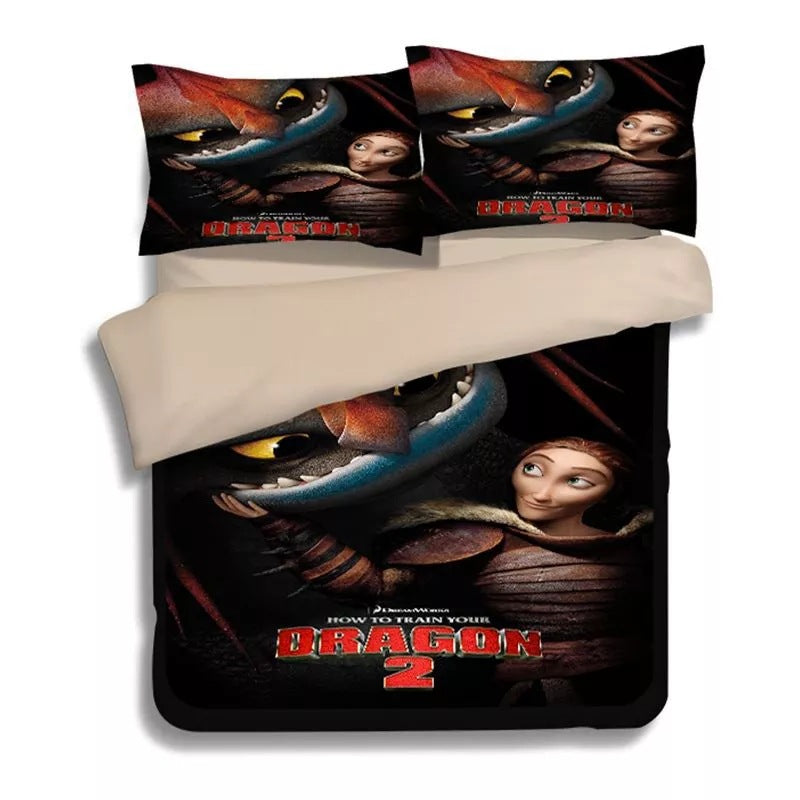 How to Train Your Dragon Hiccup #9 Duvet Cover Quilt Cover Pillowcase Bedding Set Bed Linen