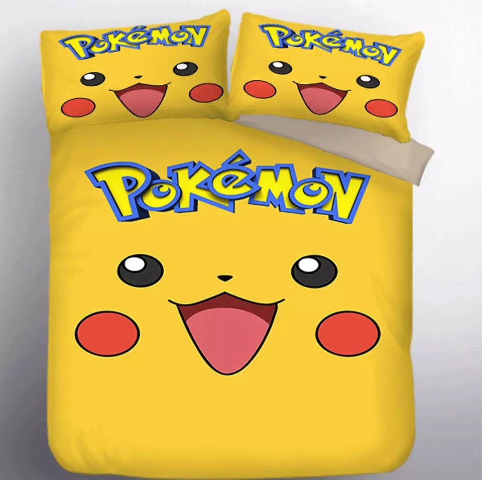 Pokemon Pikachu #1 Duvet Cover Quilt Cover Pillowcase Bedding Set