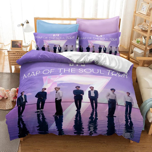 BTS MAP OF THE SOUL 7 #20 Duvet Cover Quilt Cover Pillowcase Bedding Set Bed Linen Home Bedroom Decor