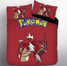 Load image into Gallery viewer, Pokemon Red Gyarados #4 Duvet Cover Quilt Cover Pillowcase Bedding Set