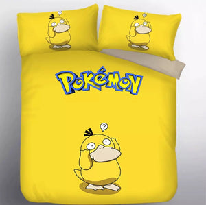 Pokemon Psyduck #8 Duvet Cover Quilt Cover Pillowcase Bedding Set