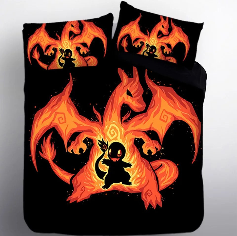 Pokemon Charmander #10 Duvet Cover Quilt Cover Pillowcase Bedding Set