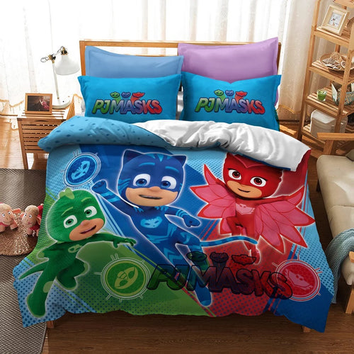 PJmasks #6 Duvet Cover Quilt Cover Pillowcase Bedding Set Bed Linen Home Decor