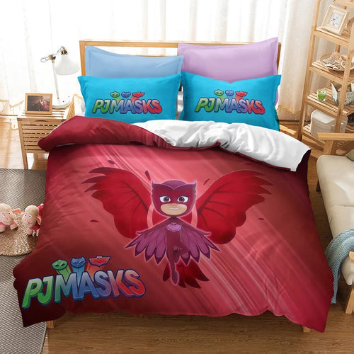 PJmasks #7 Duvet Cover Quilt Cover Pillowcase Bedding Set Bed Linen Home Decor