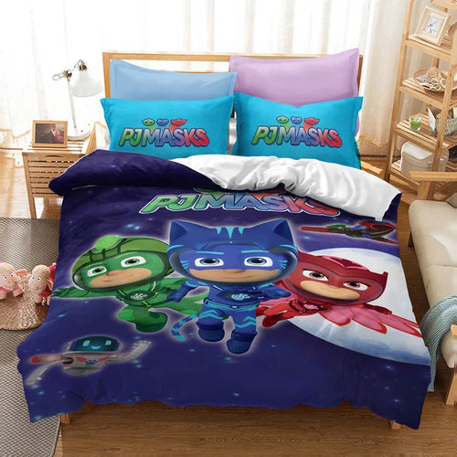 PJmasks #8 Duvet Cover Quilt Cover Pillowcase Bedding Set Bed Linen Home Decor
