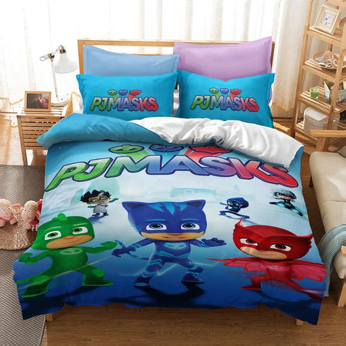 PJmasks #9 Duvet Cover Quilt Cover Pillowcase Bedding Set Bed Linen Home Decor
