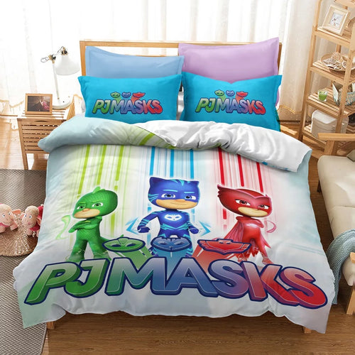 PJmasks #11 Duvet Cover Quilt Cover Pillowcase Bedding Set Bed Linen Home Decor