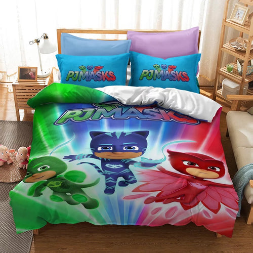 PJmasks #12 Duvet Cover Quilt Cover Pillowcase Bedding Set Bed Linen Home Decor