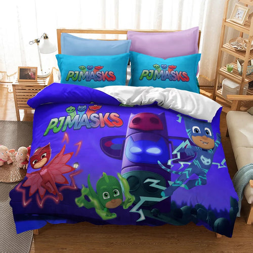 PJmasks #13 Duvet Cover Quilt Cover Pillowcase Bedding Set Bed Linen Home Decor