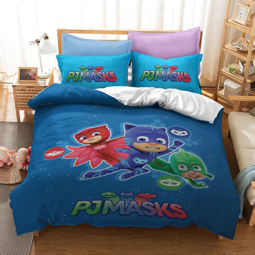 PJmasks #16 Duvet Cover Quilt Cover Pillowcase Bedding Set Bed Linen Home Decor