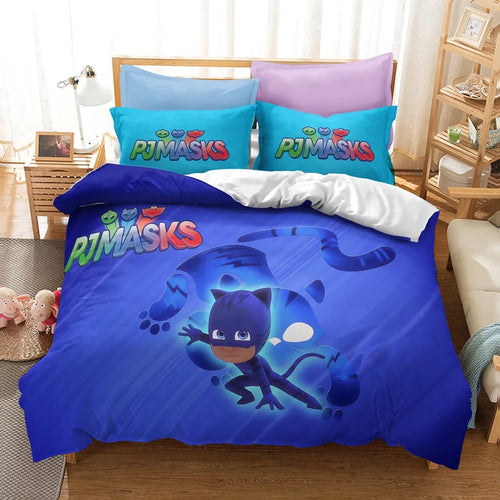 PJmasks #17 Duvet Cover Quilt Cover Pillowcase Bedding Set Bed Linen Home Decor