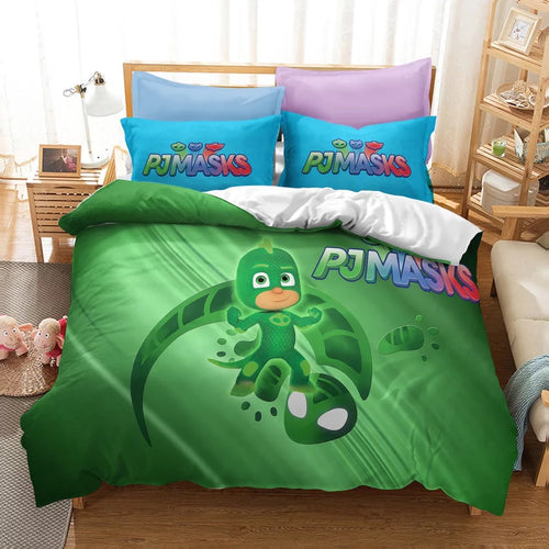PJmasks #19 Duvet Cover Quilt Cover Pillowcase Bedding Set Bed Linen Home Decor
