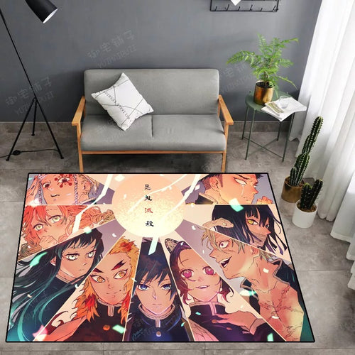 Demon Slayer Kimetsu no Yaiba #36 Graphic Carpet Living Room Bedroom Sofa Mat Door Mat Kitchen Bathroom Mat for Home Decoration