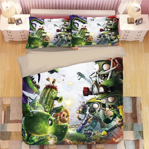 Plants vs Zombies#4 Duvet Cover Quilt Cover Pillowcase Bedding Set Bed Linen