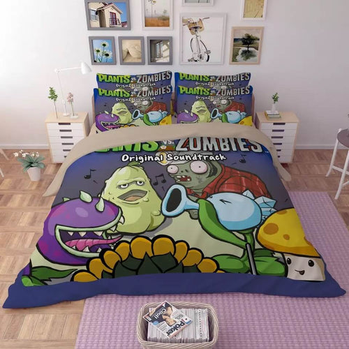 Plants vs Zombies#5 Duvet Cover Quilt Cover Pillowcase Bedding Set Bed Linen
