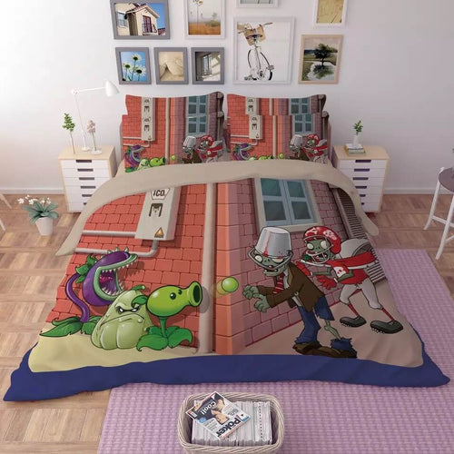 Plants vs Zombies#6 Duvet Cover Quilt Cover Pillowcase Bedding Set Bed Linen