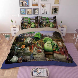 Plants vs Zombies#7 Duvet Cover Quilt Cover Pillowcase Bedding Set Bed Linen