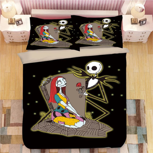 The Nightmare Before Christmas Jack Skellington #2 Duvet Cover Quilt Cover Pillowcase Bedding Set Bed Linen