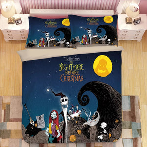 The Nightmare Before Christmas Jack Skellington #4 Duvet Cover Quilt Cover Pillowcase Bedding Set Bed Linen
