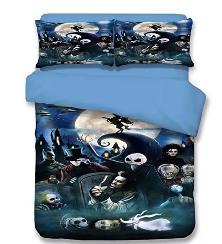 The Nightmare Before Christmas Jack Skellington #6 Duvet Cover Quilt Cover Pillowcase Bedding Set Bed Linen