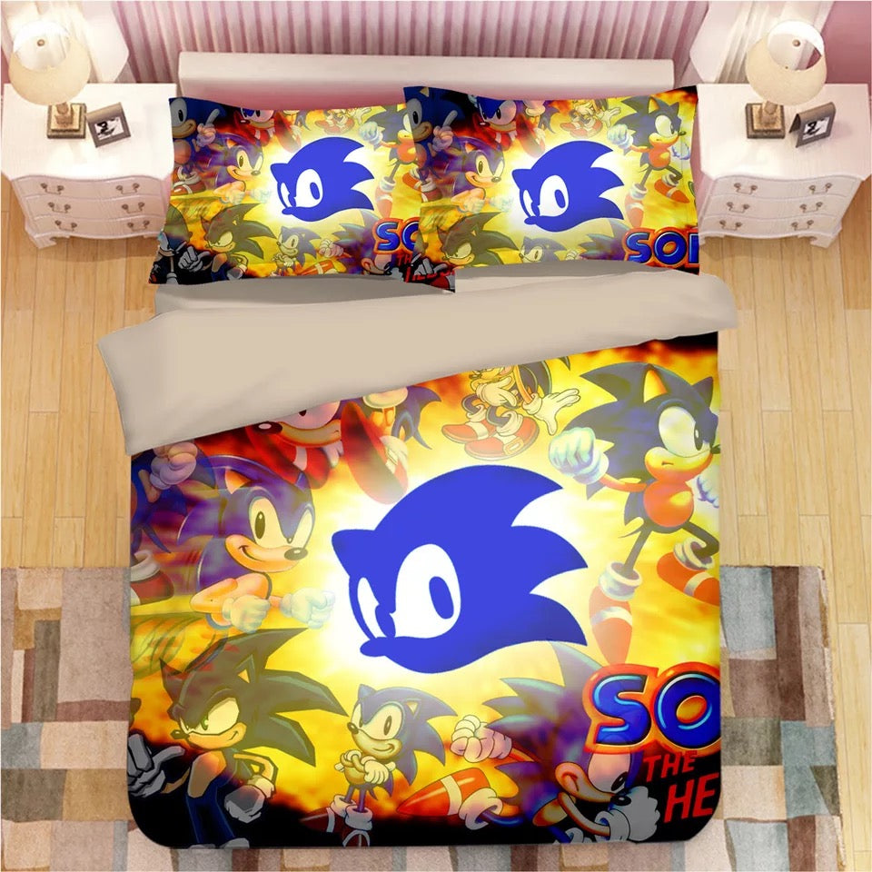 Sonic The Hedgehog #10 Duvet Cover Quilt Cover Pillowcase Bedding Set Bed Linen
