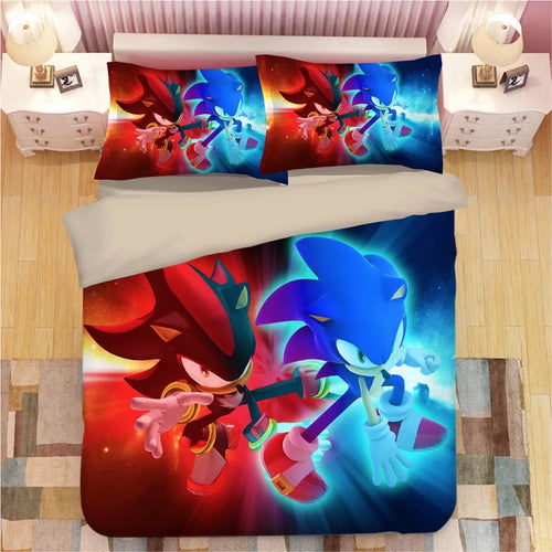Sonic The Hedgehog #12 Duvet Cover Quilt Cover Pillowcase Bedding Set Bed Linen