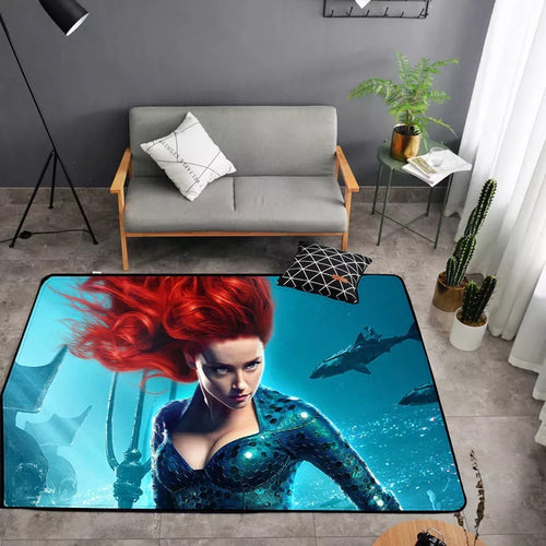 Aquaman Mera #27 Graphic Carpet Living Room Bedroom Sofa Mat Door Mat Kitchen Bathroom Mat for Home Decoration