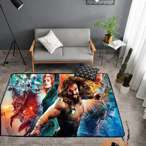Aquaman Arthur Curry #28 Graphic Carpet Living Room Bedroom Sofa Mat Door Mat Kitchen Bathroom Mat for Home Decoration