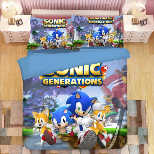 Sonic The Hedgehog #16 Duvet Cover Quilt Cover Pillowcase Bedding Set Bed Linen