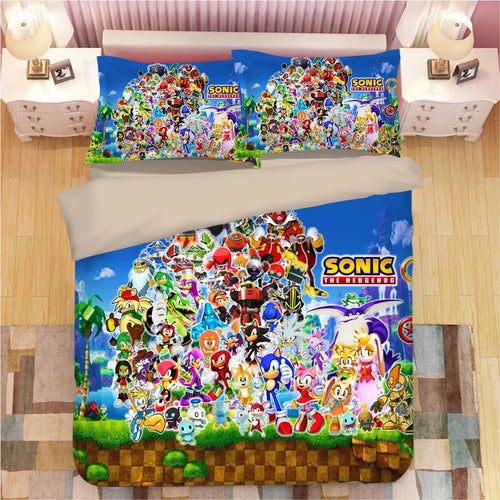 Sonic The Hedgehog #18 Duvet Cover Quilt Cover Pillowcase Bedding Set Bed Linen