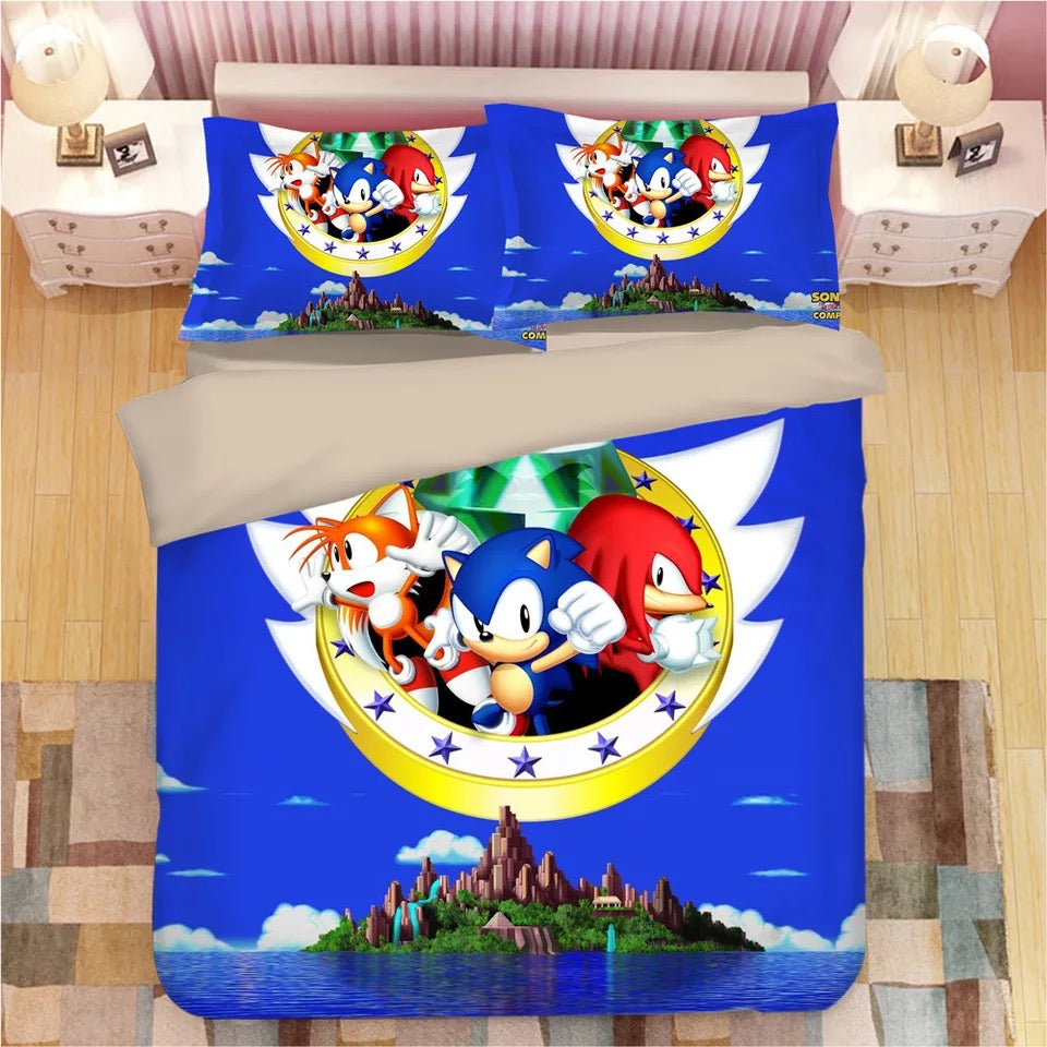 Sonic The Hedgehog #19 Duvet Cover Quilt Cover Pillowcase Bedding Set Bed Linen
