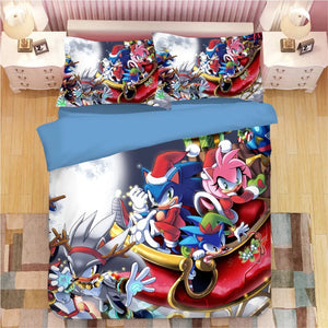 Sonic The Hedgehog #20 Duvet Cover Quilt Cover Pillowcase Bedding Set Bed Linen