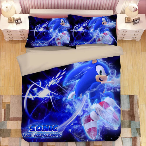 Sonic The Hedgehog #21 Duvet Cover Quilt Cover Pillowcase Bedding Set Bed Linen