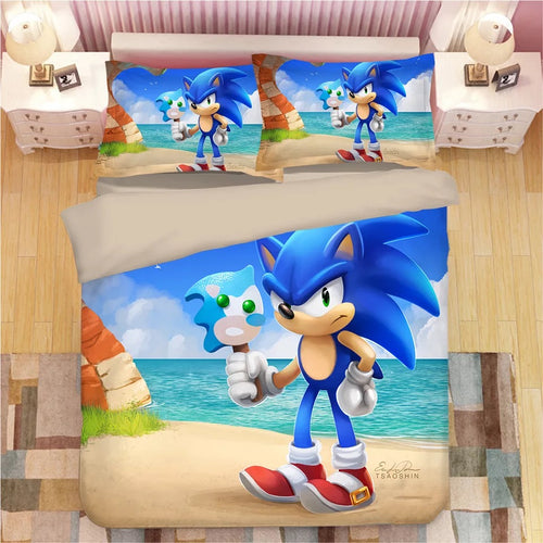 Sonic The Hedgehog #29 Duvet Cover Quilt Cover Pillowcase Bedding Set Bed Linen