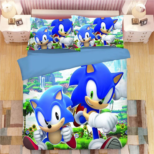 Sonic The Hedgehog #28 Duvet Cover Quilt Cover Pillowcase Bedding Set Bed Linen
