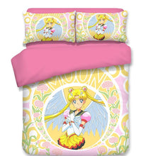 Load image into Gallery viewer, Sailor Moon #3 Duvet Cover Quilt Cover Pillowcase Bedding Set Bed Linen Home Decor