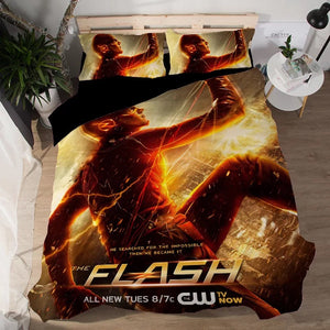 The Flash Barry Allen #1 Duvet Cover Quilt Cover Pillowcase Bedding Set Bed Linen Home Decor