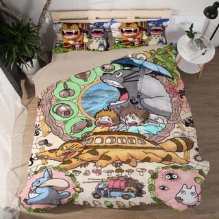 Tonari no Totoro #1 Duvet Cover Quilt Cover Pillowcase Bedding Set Bed Linen Home Decor