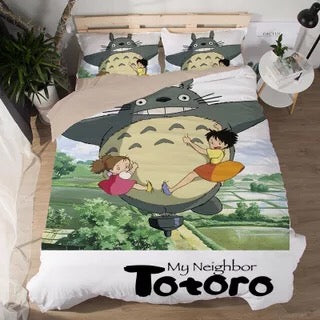 Tonari no Totoro #2 Duvet Cover Quilt Cover Pillowcase Bedding Set Bed Linen Home Decor