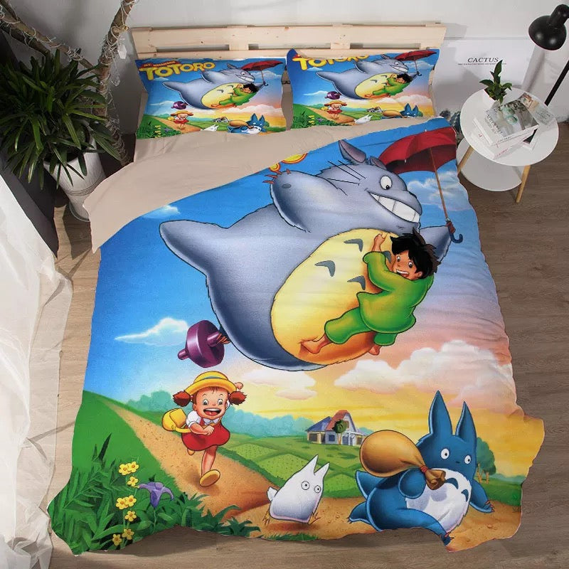 Tonari no Totoro #3 Duvet Cover Quilt Cover Pillowcase Bedding Set Bed Linen Home Decor