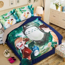 Load image into Gallery viewer, Tonari no Totoro #7 Duvet Cover Quilt Cover Pillowcase Bedding Set Bed Linen Home Decor