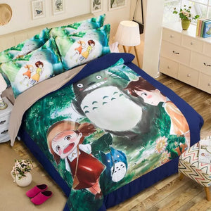 Tonari no Totoro #7 Duvet Cover Quilt Cover Pillowcase Bedding Set Bed Linen Home Decor