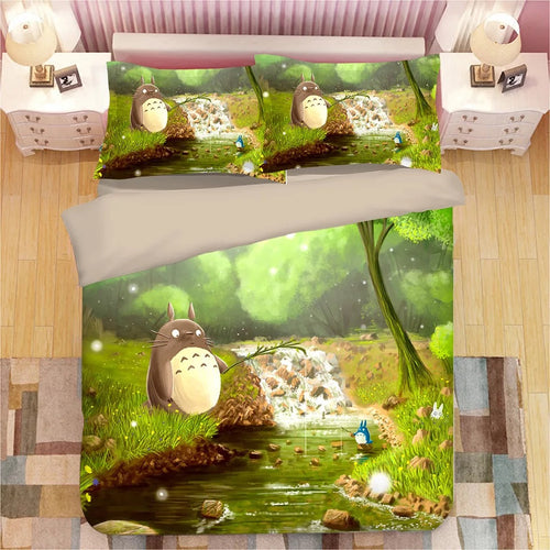 Tonari no Totoro #21 Duvet Cover Quilt Cover Pillowcase Bedding Set Bed Linen Home Decor