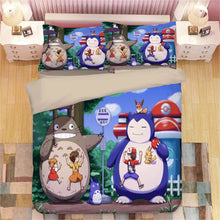 Load image into Gallery viewer, Tonari no Totoro #23 Duvet Cover Quilt Cover Pillowcase Bedding Set Bed Linen Home Decor