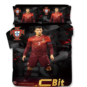 Barcelona Cristiano Ronaldo Football Club #2 Duvet Cover Quilt Cover Pillowcase Bedding Set Bed Linen Home Decor