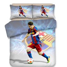 Load image into Gallery viewer, Barcelona Cristiano Ronaldo Messi 10 Football Club #9 Duvet Cover Quilt Cover Pillowcase Bedding Set Bed Linen Home Decor