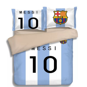 Barcelona Messi 10 Football Club #10 Duvet Cover Quilt Cover Pillowcase Bedding Set Bed Linen Home Decor