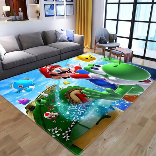 Super Mario Bros #1 Graphic Carpet Living Room Bedroom Sofa Mat Door Mat Kitchen Bathroom Mat for Home Decoration